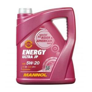 MANNOL 5 Litre Énergie Ultra JP 5W-20 Leichtlauf-Motoröl Api Sn Ilsac GF-5