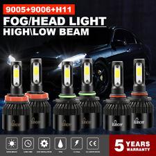 Combo 9005 9006 H11 LED Headlight Kit 3900W 585000LM Hi-Low Beam Fog Light 6000K