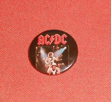 "AC/DC Button Pin 1983 Original Vintage Promo 1.25"" Angus"