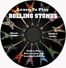Rolling Stones Guitar TABS Lesson CD, 276 Songs, 45 Backing Tracks!