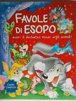 Favole di Esopo mondo animalirusconi libro 23 fiabe classiche bambini nuovo 88