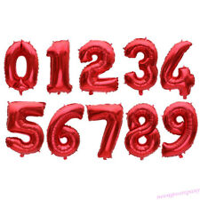 32 Inch Foil Number Balloons Red Black New Year Birthday Wedding Party Decor