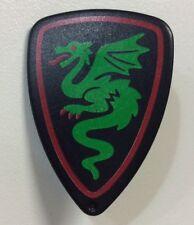 Bouclier Dragon Vert Moyen Âge Médiéval Château Accessoire Playmobil
