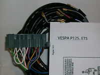 IMPIANTO ELETTRICO ELECTRICAL WIRING VESPA PK ETS 125 CON SCHEMA ELETTRICO