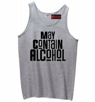 May Contain Alcohol Funny Mens Tank Top Beer College Party Tee Shirt Z3