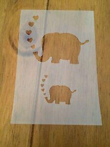 Elephant Mylar Reusable Stencil Airbrush Painting Art Craft DIY Home Decor &more
