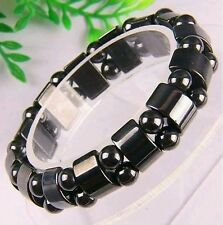 Unisex Jewellery  Black Magnetic Hematite Arthritis Pain Therapey Breaclate.