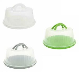 Excellent Houseware Round Plastic Cake Storage Transporting Carry Box Container