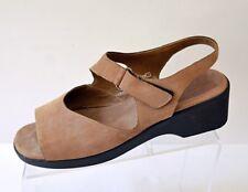 Munro American Womens 10 M Leather Wedge Platform Slingback Sandal Shoe USA