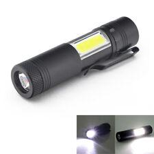 New Mini Portable Aluminum Q5 LED Flashlight XPE&COB Work Light lanterna Po
