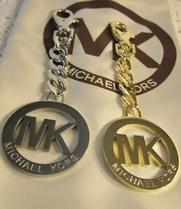 AUTHENTIC MK Michael Kors Gold or Silver Tone Purse Charm NEW & PERFECT