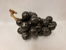 Vintage Stone Alabaster Marble Italy Large Grapes Black Purple Grapes Cluster 8""