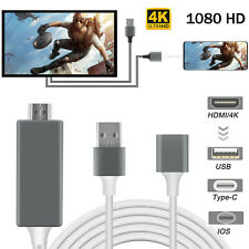 4K HDMI Mirroring Cable Phone to TV HDTV Adapter For iPhone/iPad/Android/IOS/Tab