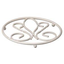 Premier Housewares 18diax1.5cm De Lis Round Trivet Heat Resistant Cream Metal