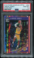 2018-19 Lebron James Panini Donruss Optic Hyper Pink PSA 10 Gem Mint
