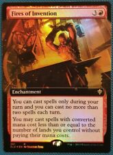 """Magic The Gathering """"Fires of Invention"""" FOIL EXTENDED ART RARE [Eldraine] MTG"""