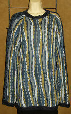 COOGI - Multi Color Blue - Warm & THICK Cotton Knit WINTER Cosby SWEATER sz XL