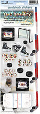 Paper House ICE HOCKEY Cardstock Stickers scrapbooking HAT TRICK FACE OFF PUCK