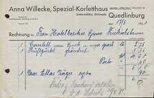 QUEDLINBURG, Rechnung 1931, Spezial-Korsetthaus Anna Willecke