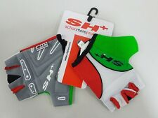 SH+ Butterfly Half Finger Cycling Gloves Red White Green Size M