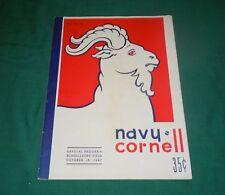Vtg 1947 NAVY vs. CORNELL University Football Official Program-Post WWII