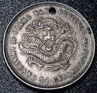 1911 CHINA Kiangnan 1 Mace and 4.4 Candareens 20 Cents Xuantong Rare Silver Coin