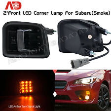 For 2015 2016 2017 2018 Subaru STI WRX LED Corner Lamp Turn Signal Light Black