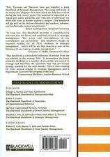 Blackwell Handbooks in Management: The Blackwell Handbook of Strategic Managemen