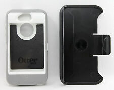 OtterBox Defender Hard Rugged Case for iPhone 4S 4 Holster Belt Clip -White/Gray