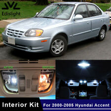 10x Xenon White LED Car Lights Interior Package Kit For 2000-2005 Hyundai Accent