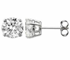 0.20 ct E VS2 ROUND CUT DIAMOND STUD EARRINGS 14K WHITE GOLD