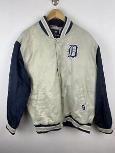 Vintage MLB Detroit Tigers Mens Satin Jacket Size 100 / XL Rare 90s Sewn Basebal