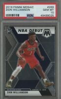 2019-20 Panini Mosaic #269 Zion Williamson Pelicans RC Rookie PSA 10 GEM MINT