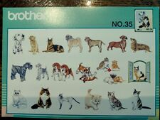 Brother Babylock Bernina White Embroidery Machine Memory Card - Cats Dogs No 35