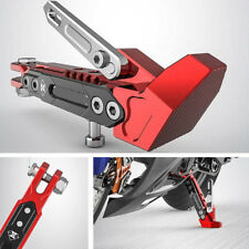 Motorcycle Side Stand Holder Metal 6 Position Adjustable Height Fall Protection