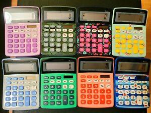 Electronic Display Calculator  - Various Colors