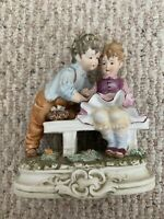 Napcoware Classic Gallery Boy Girl Holding Hands Figurine First Love C8690
