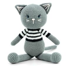 Imajo Adorable Sitting Crochet Cat Suitable For All Ages