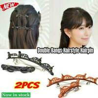 2Pcs Double Bangs Hairstyle Hairpin Hair Accessories Hair Bangs Clips