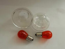 Mk 1/2 CLASSIC MINI PAIR OF CLEAR  FRONT INDICATOR LENS ,AMBER BULB,