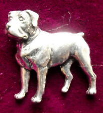 Pewter Rottweiler Dog Brooch Pin  Signed