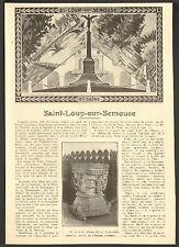 70 SAINT-LOUP-SUR-SEMOUSE GEORGES DESCAMPS ARTICLE DE PRESSE 1929