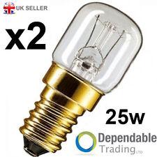 2 x 25w Branded Oven Lamps / Cooker Light Bulbs 230v - SES E14 - 300 Degree