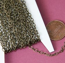 32ft Antiqued Brass figure 8 connector chain, bulk brass chain