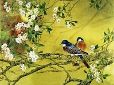 "BIRDS_CHINESE_PAITING. Picture on  Modern BOX-CANVAS 18""x 24"""