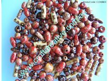 50gms MIXED PAINTED WOODEN BEADS - JEWELLERY CRAFT