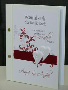 HARDCOVER A5 Stammbuch Familie Familienstammbuch Duo bordeaux Familienbuch A4