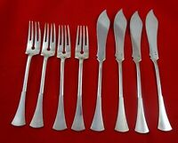 Austrian 800 Silver Set of 4 Fish Knives and 4 Fish Forks  #4267