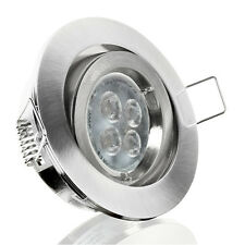 10er Set LED Einbaustrahler Einbauleuchte Spot Aluminium DIMMBAR GU10-230V T7RD2