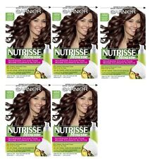 LOT OF 5 - Garnier Nutrisse 41M Iced Mahogany Brown Nourishing Color Foam 4IM